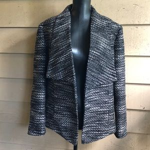 CHICOS SIZE L - SIZE 2 BLAZER BOUCLE TWEED